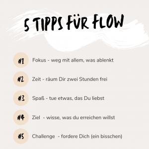 5 Tipps für Flow